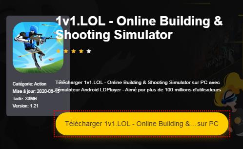 Installer 1v1.LOL - Simulateur de bâtisse et de tir en ligne sur PC
