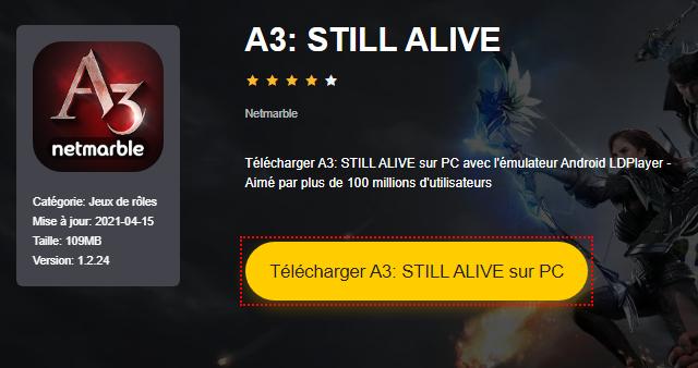 Installer A3: STILL ALIVE sur PC