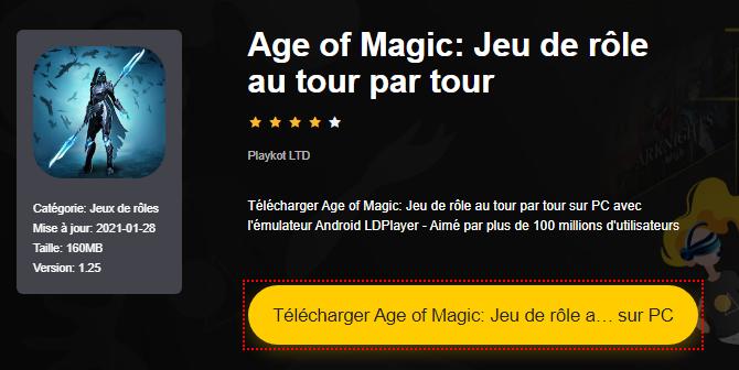 Installer Age of Magic: Jeu de rôle au tour par tour sur PC