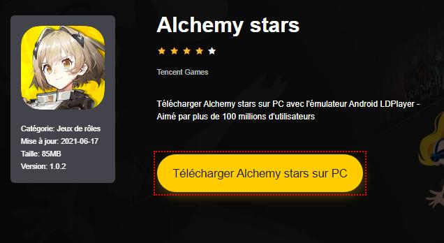 Installer Alchemy stars sur PC