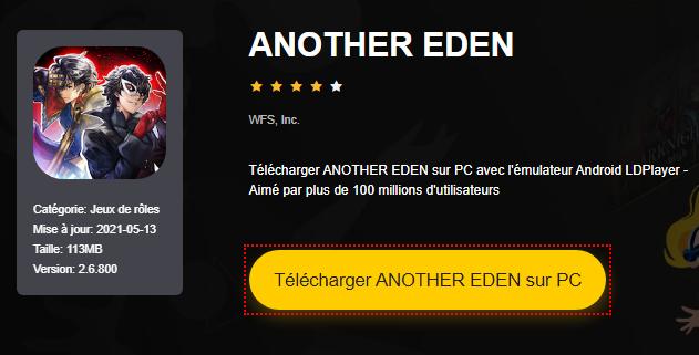 Installer ANOTHER EDEN sur PC