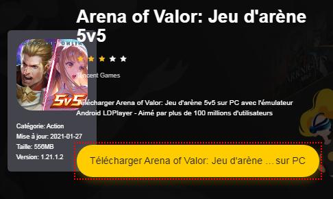 Installer Arena of Valor sur PC