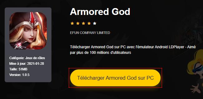 Installer Armored God sur PC