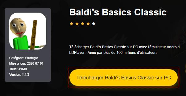 Installer Baldi's Basics Classic sur PC