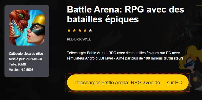 Installer Battle Arena: RPG avec des batailles épiques sur PC