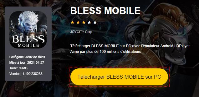 Installer BLESS MOBILE sur PC