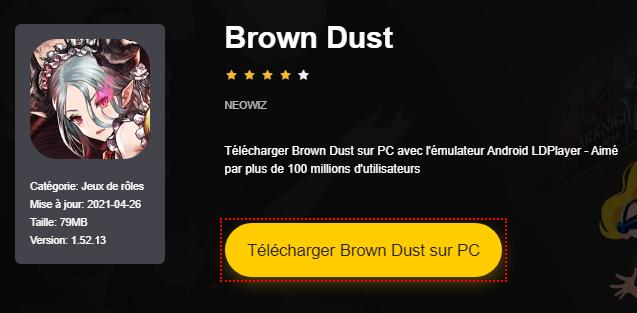 Installer Brown Dust sur PC