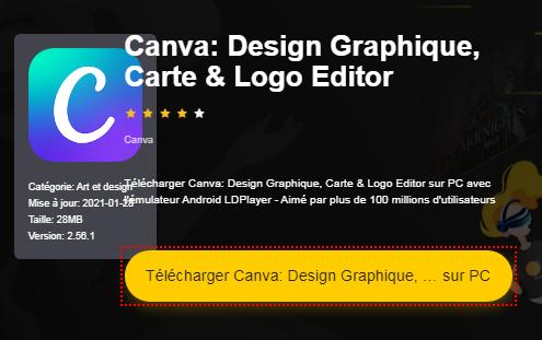 Installer Canva: Design Graphique, Carte & Logo Editor sur PC