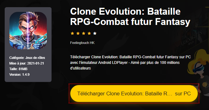Installer Clone Evolution: Bataille RPG-Combat futur Fantasy sur PC
