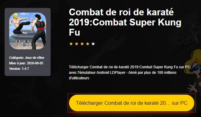 Installer Combat de roi de karaté 2019:Combat Super Kung Fu sur PC