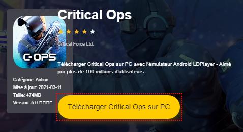 Installer Critical Ops sur PC