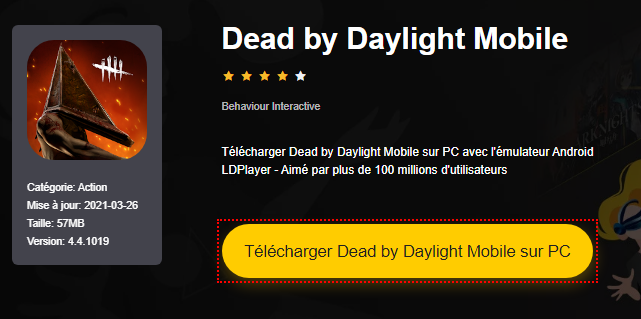 Installer Dead by Daylight Mobile sur PC