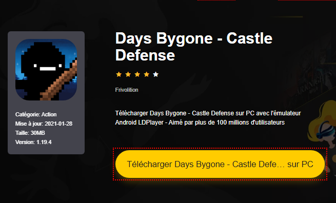 Installer Days Bygone - Castle Defense sur PC