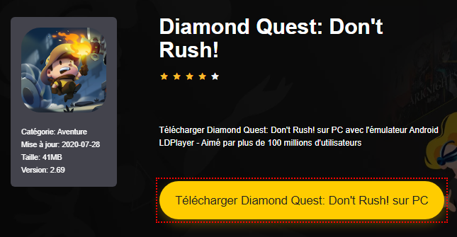 Installer Diamond Quest: Don't Rush! sur PC