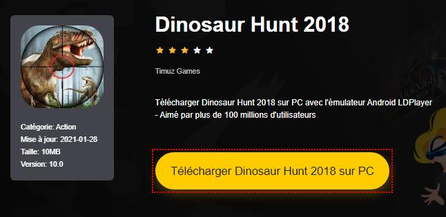 Installer Dinosaur Hunt 2018 sur PC