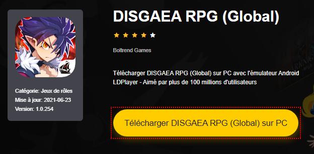 Installer DISGAEA RPG (Global) sur PC