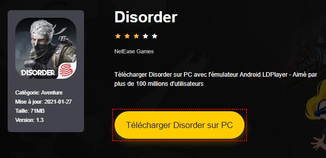 Installer Disorder sur PC