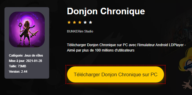 Installer Donjon Chronique sur PC