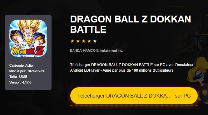 Installer DRAGON BALL Z DOKKAN BATTLE sur PC