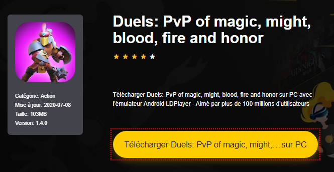 Installer Duels: PvP of magic, might, blood, fire and honor sur PC