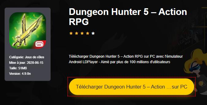 Installer Dungeon Hunter 5 – Action RPG sur PC