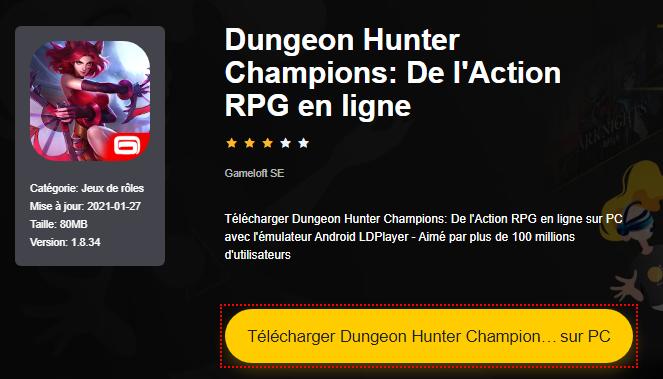 Installer Dungeon Hunter Champions: De l'Action RPG en ligne sur PC