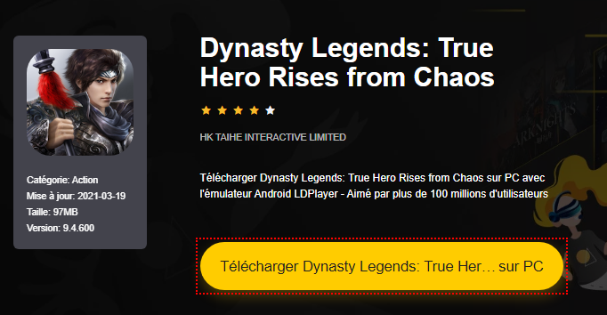 Installer Dynasty Legends: True Hero Rises from Chaos sur PC