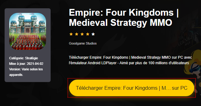 Installer Empire: Four Kingdoms | Medieval Strategy MMO sur PC