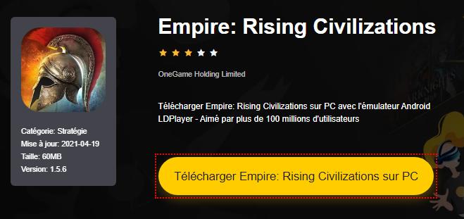 Installer Empire: Rising Civilizations sur PC