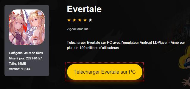 Installer Evertale sur PC