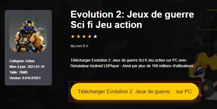 Installer Evolution 2: Jeux de guerre Sci fi Jeu action sur PC