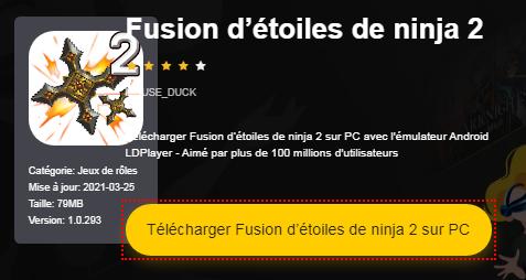 Installer Fusion d'étoiles de ninja 2 sur PC