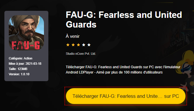 Installer FAU-G: Fearless and United Guards sur PC
