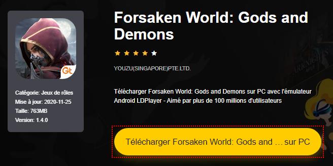 Installer Forsaken World: Gods and Demons sur PC