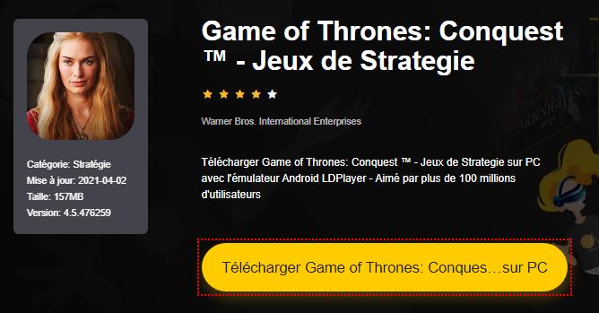 Installer Game of Thrones: Conquest ™ - Jeux de Strategie sur PC