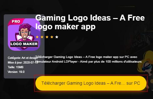 Installer Gaming Logo Ideas – A Free logo maker app sur PC