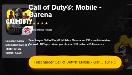 Installer Call of Duty®: Mobile - Garena sur PC
