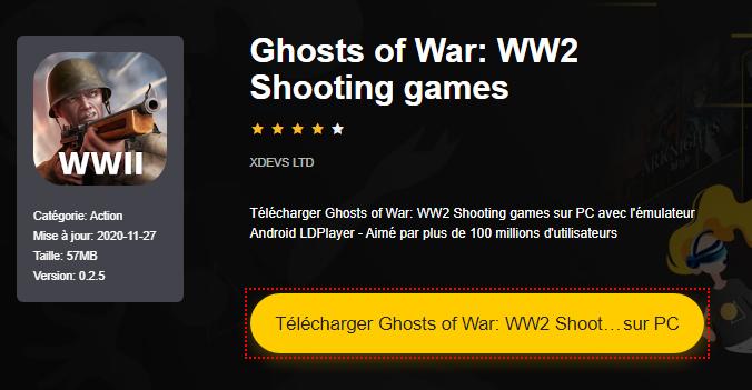 Installer Ghosts of War: WW2 Shooting games sur PC