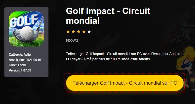 Installer Golf Impact - Circuit mondial sur PC