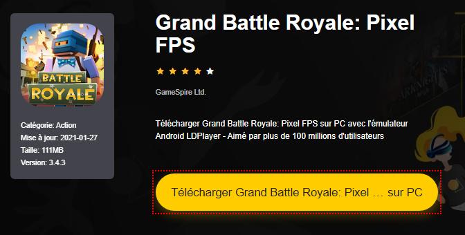 Installer Grand Battle Royale: Pixel FPS sur PC