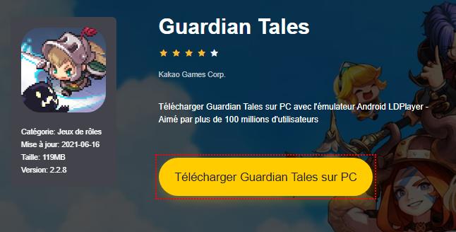Installer Guardian Tales sur PC