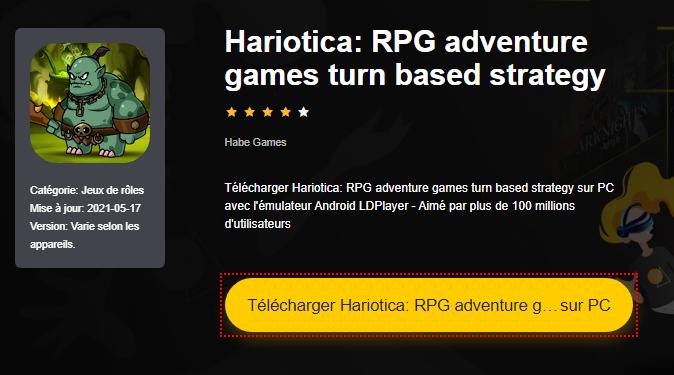 Installer Hariotica: RPG adventure games turn based strategy sur PC