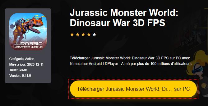 Installer Jurassic Monster World: Dinosaur War 3D FPS sur PC
