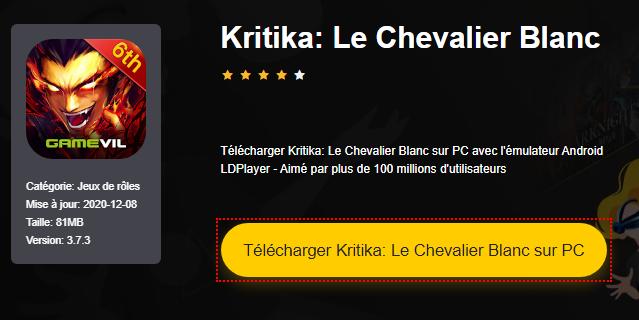 Installer Kritika: Le Chevalier Blanc sur PC