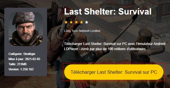 Installer Last Shelter: Survival sur PC