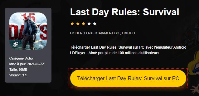 Installer Last Day Rules: Survival sur PC