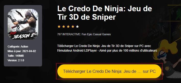 Installer Le Credo De Ninja: Jeu de Tir 3D de Sniper sur PC