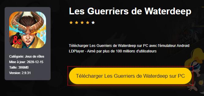Installer Les Guerriers de Waterdeep sur PC