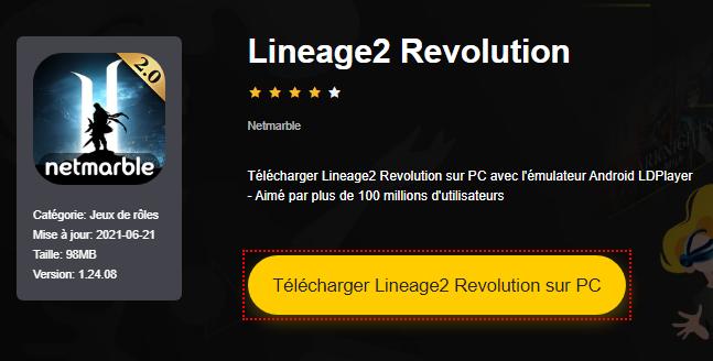Installer Lineage2 Revolution sur PC