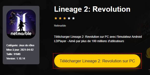 Installer Lineage 2: Revolution sur PC